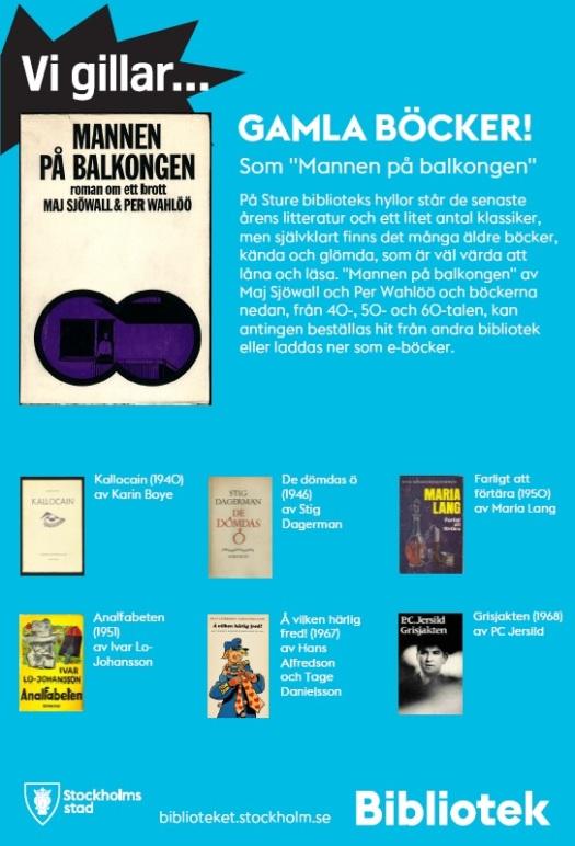 Affisch Gamla böcker