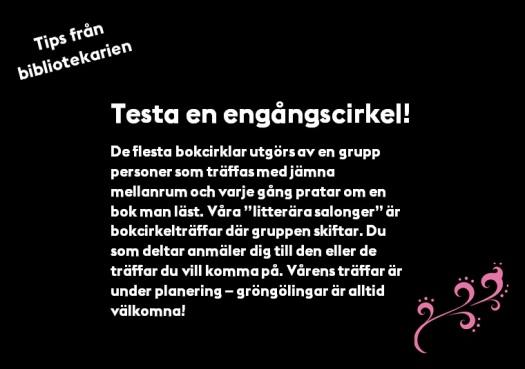 Tips från bibliotekarien Engångscirkel